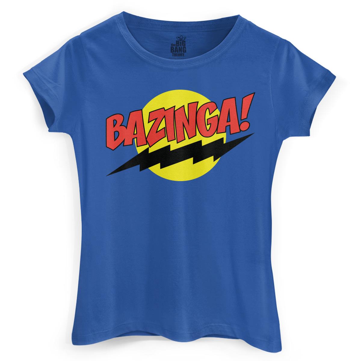 Camiseta Feminina The Big Bang Theory Bazinga!