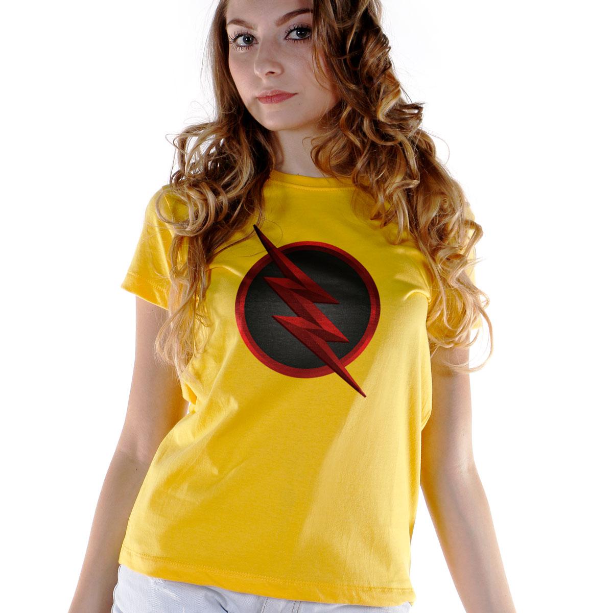 Camiseta Feminina The Flash Série Logo Reverse