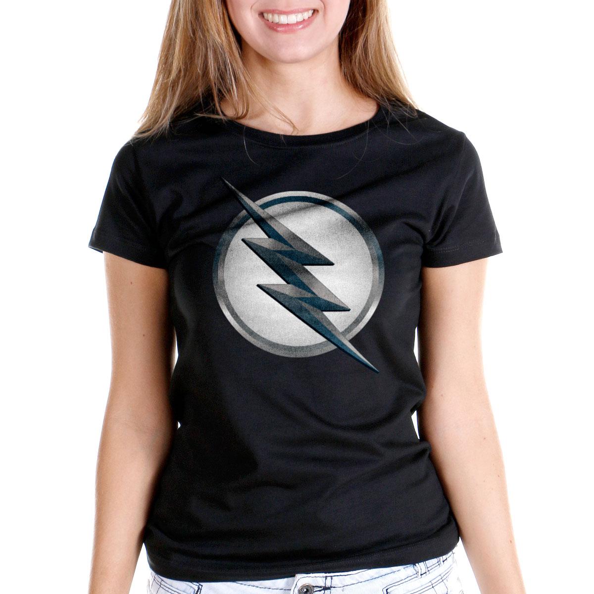 Camiseta Feminina The Flash Série Logo Zoom