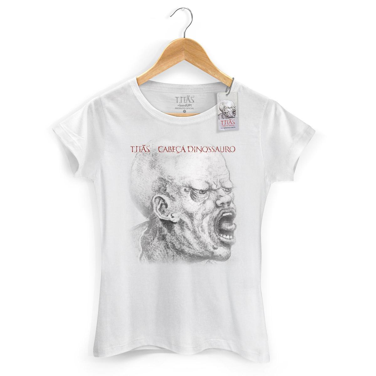 Camiseta Feminina Titãs Cabeça Dinossauro