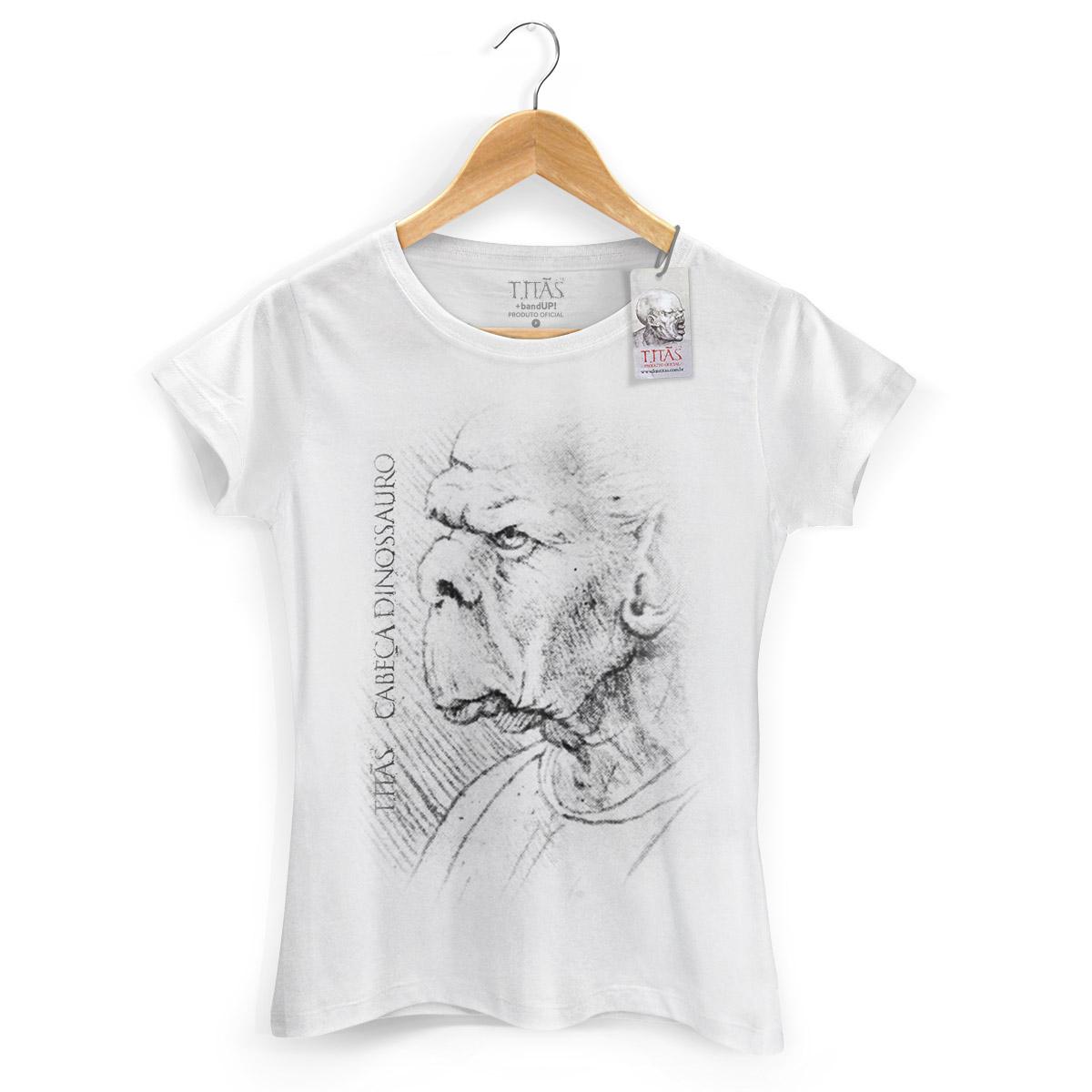 Camiseta Feminina Titãs Cabeça Dinossauro 2