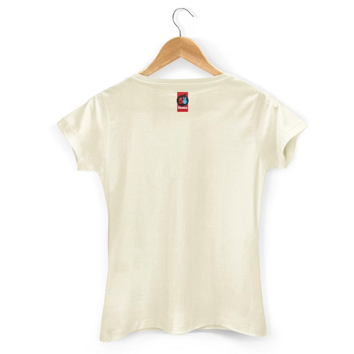 Camiseta Feminina Turma da M�nica 50 Anos Evolu��o Modelo 3