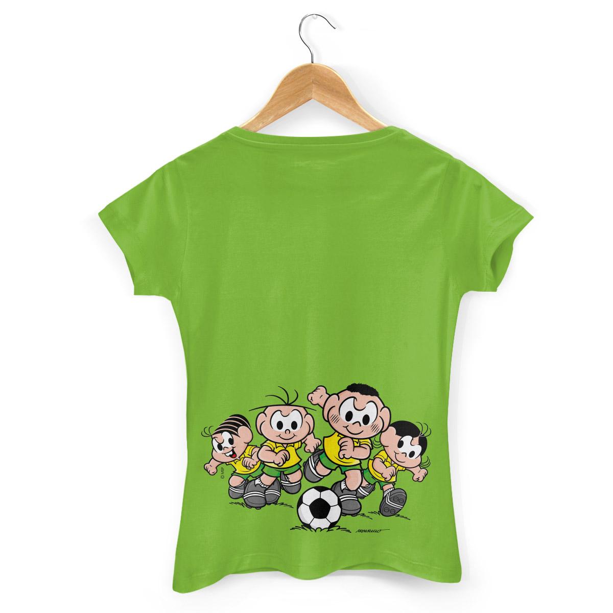 Camiseta Feminina Turma da M�nica Bras�o M�nica e Cebolinha