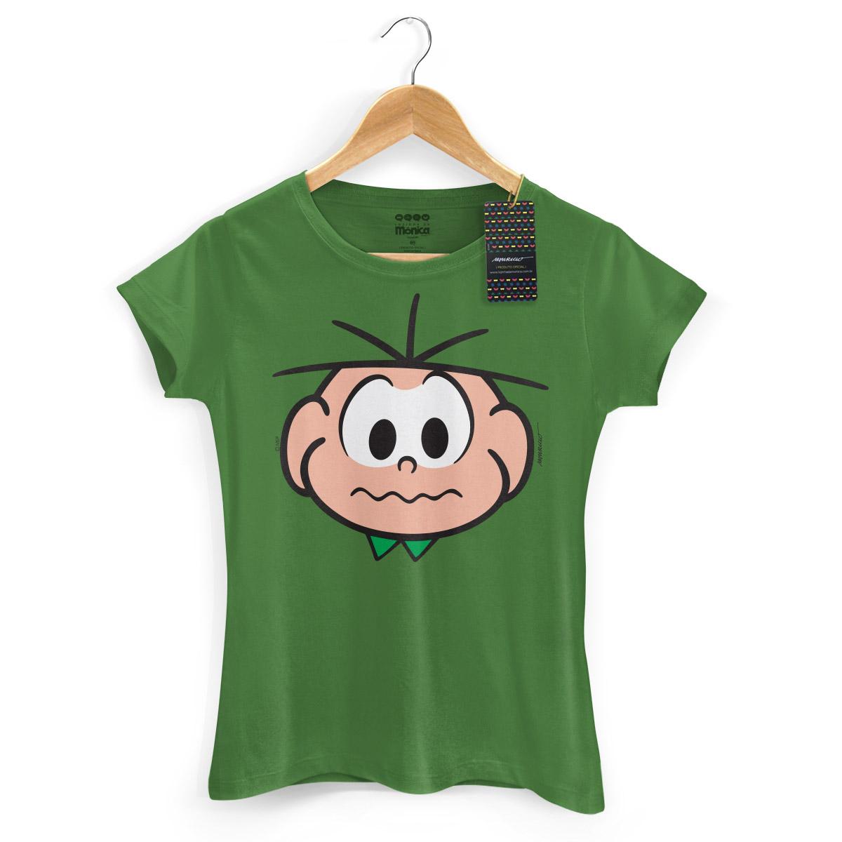 Camiseta Feminina Turma Da M�nica Kids Face Cebolinha