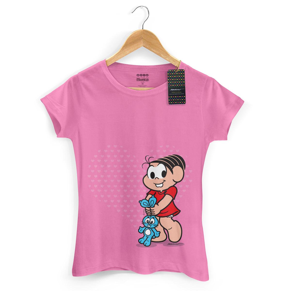Camiseta Feminina Turma da M�nica Kids M�nica Heart