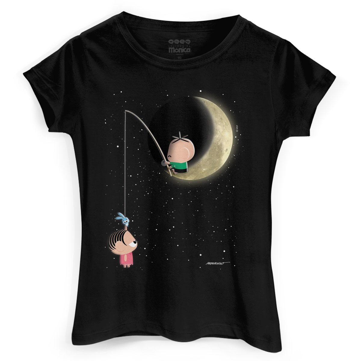 Camiseta Feminina Turma da M�nica Toy Lua