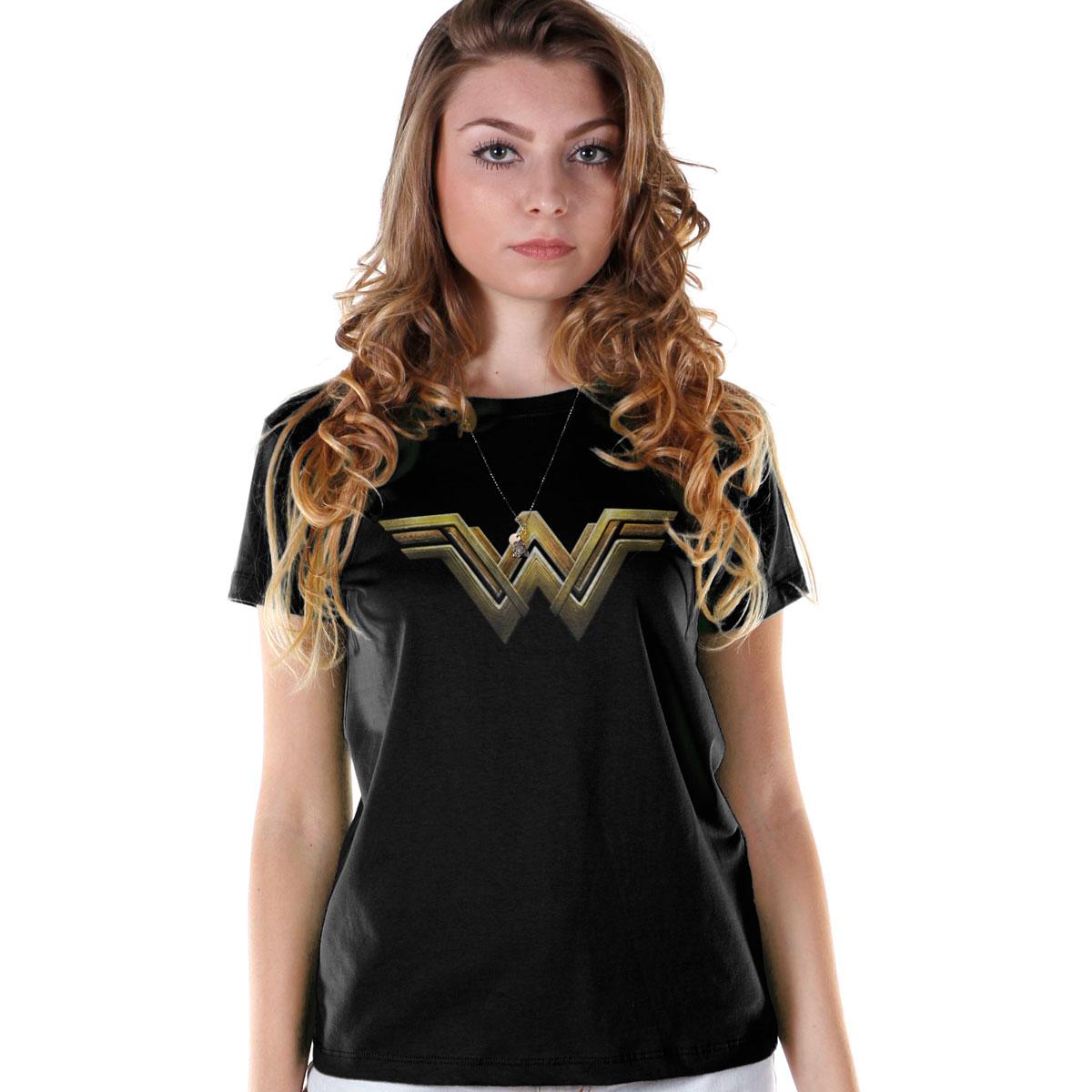 Camiseta Feminina Wonder Woman Logo Strength