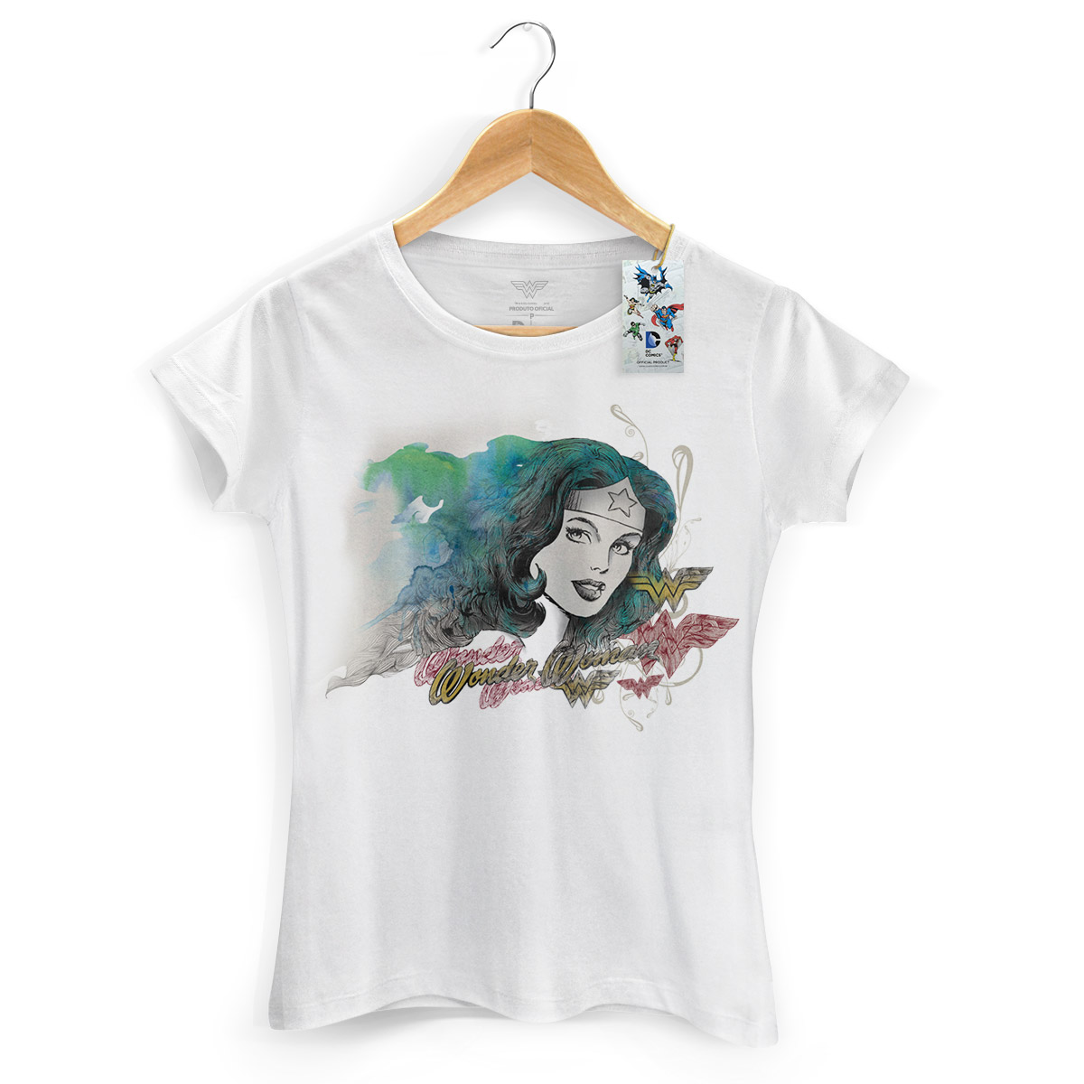 Camiseta Feminina Wonder Woman Nature Force
