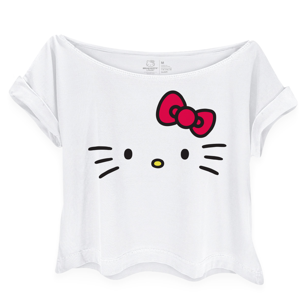 Camiseta Gola Canoa Hello Kitty White