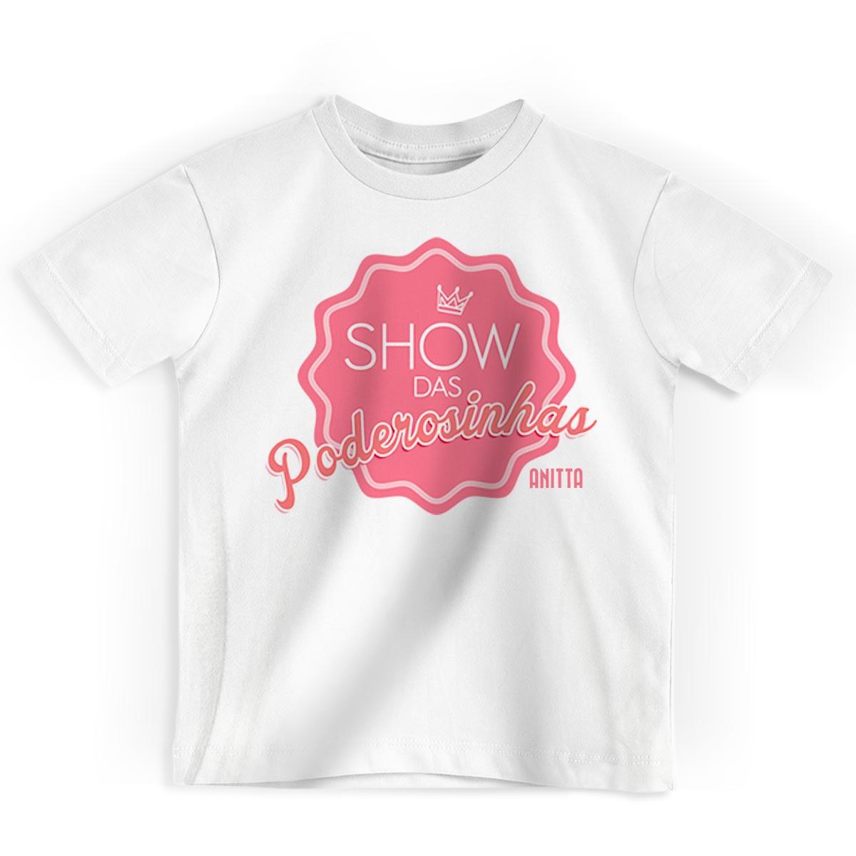 Camiseta Infantil Anitta Show das Poderosinhas
