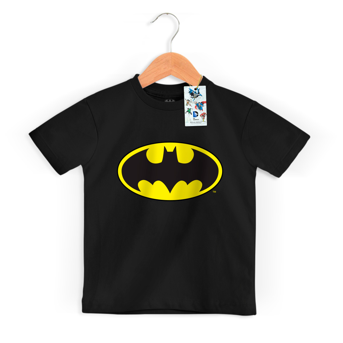 Camiseta Infantil Batman Logo Clássico