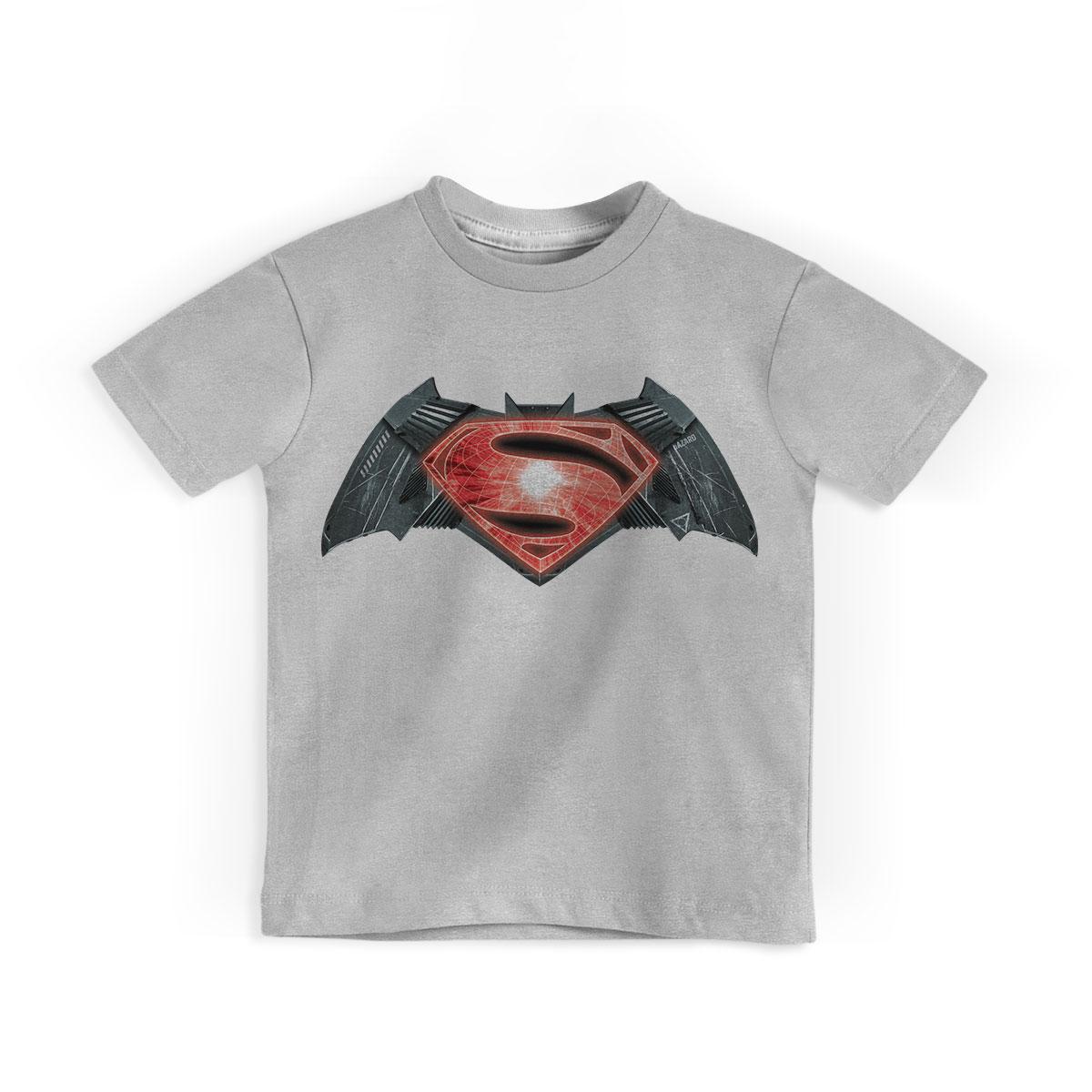 Camiseta Infantil Batman Vs Superman Logo
