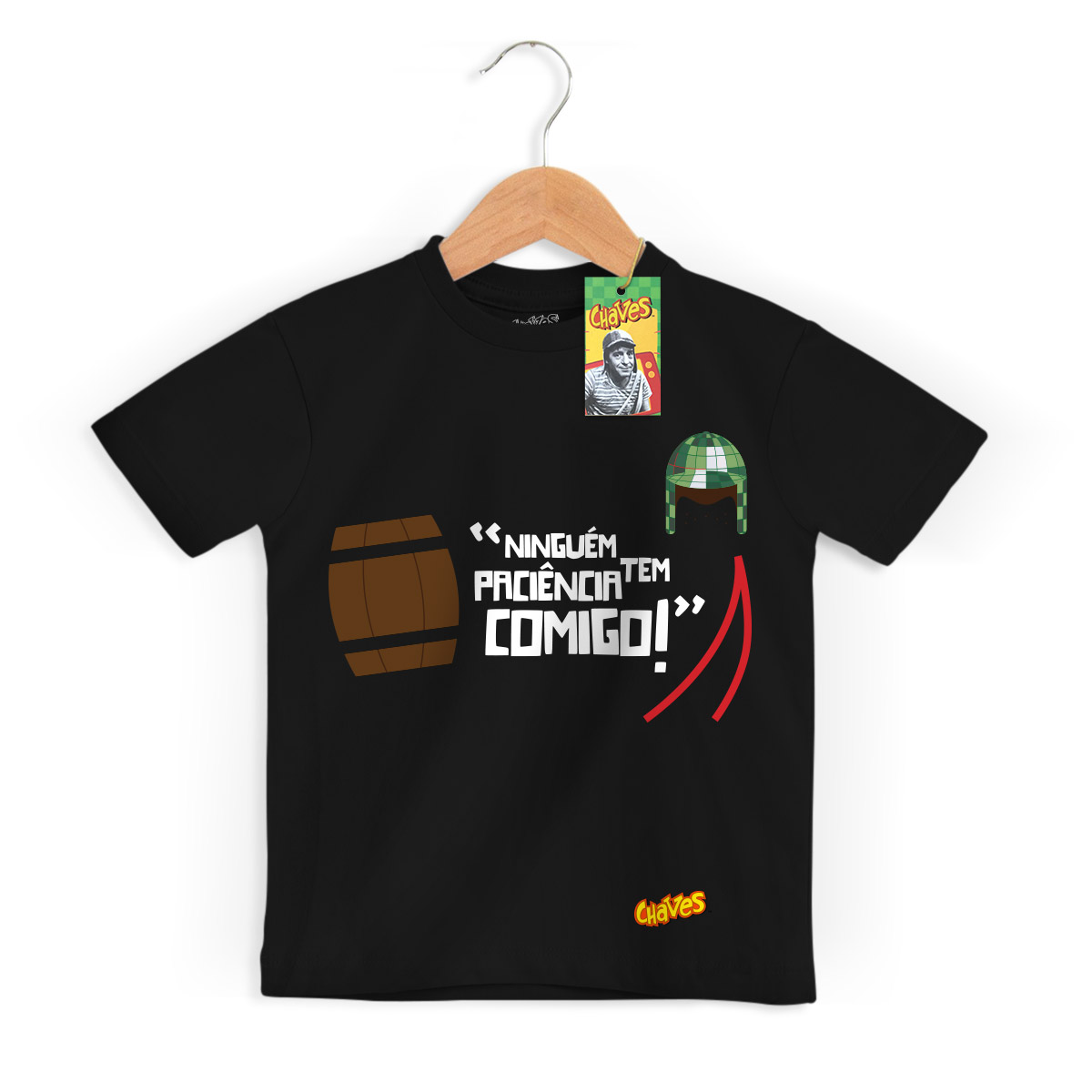 Camiseta Infantil Chaves Ninguém Tem Paciência Comigo! 3