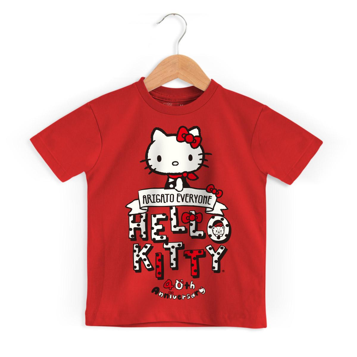 Camiseta Infantil Hello Kitty Arigato Everyone 2