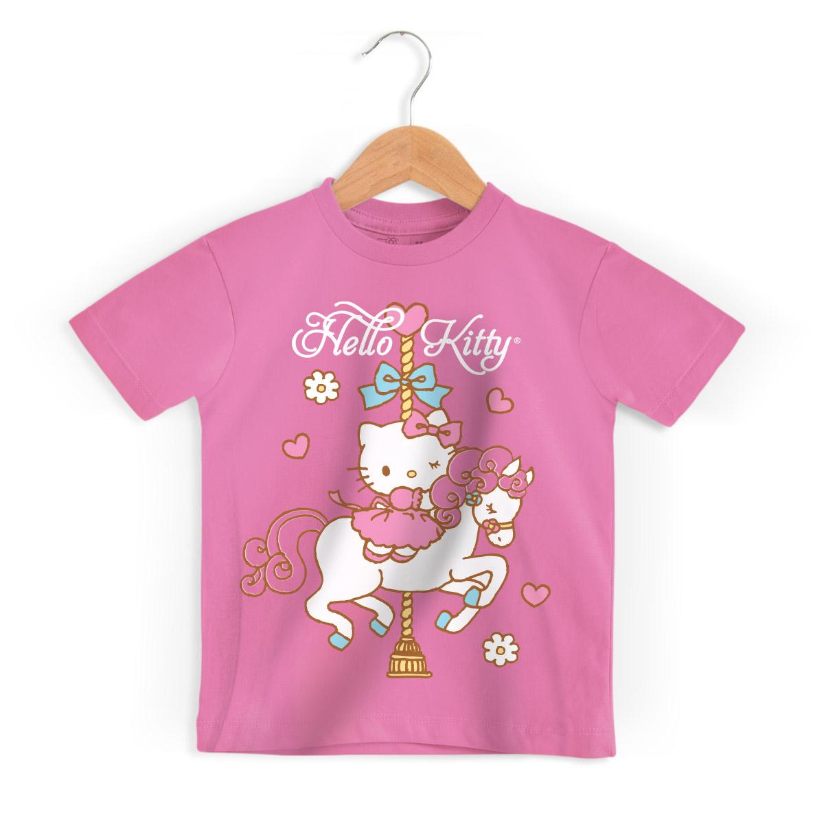 Camiseta Infantil Hello Kitty Carrossel