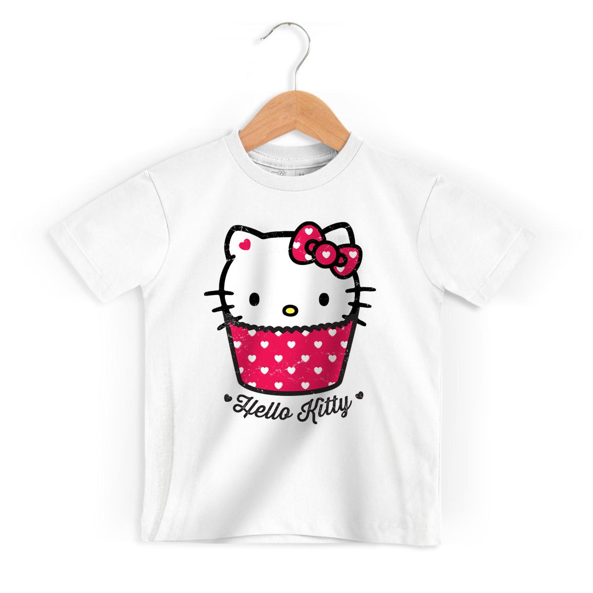 Camiseta Infantil Hello Kitty Cup Kitty