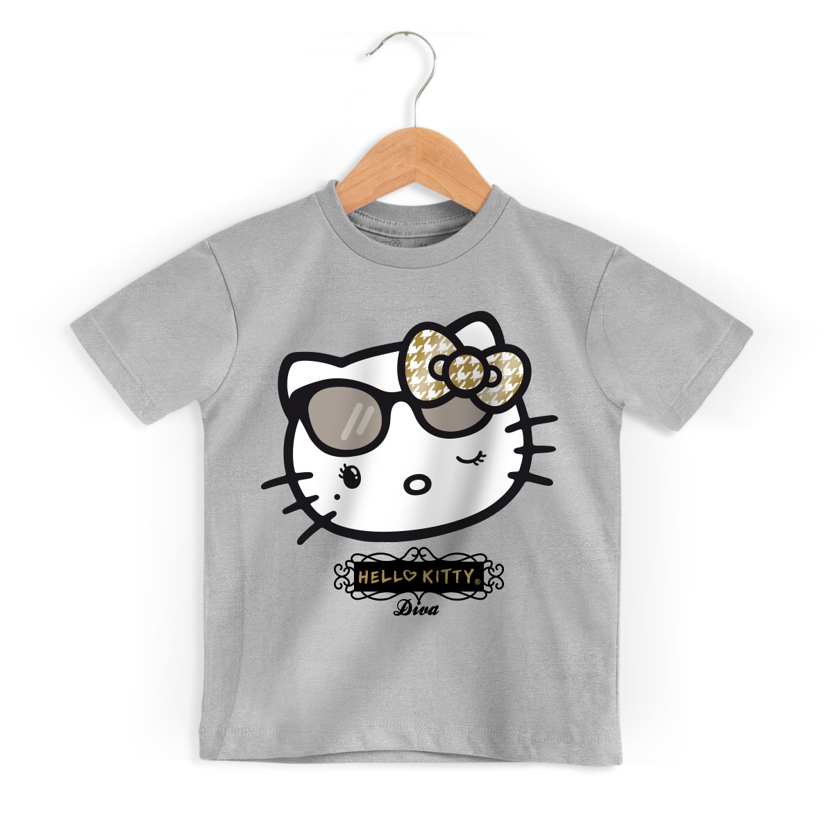 Camiseta Infantil Hello Kitty Diva