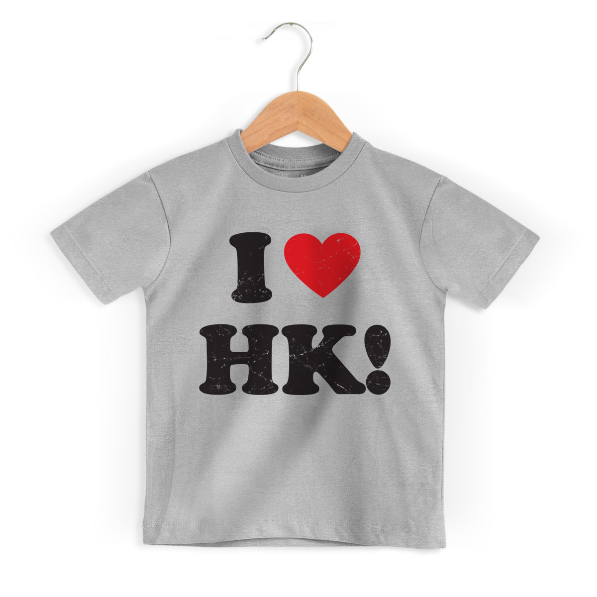 Camiseta Infantil Hello Kitty I Love HK