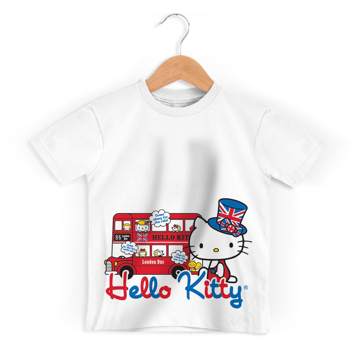 Camiseta Infantil Hello Kitty London Bus