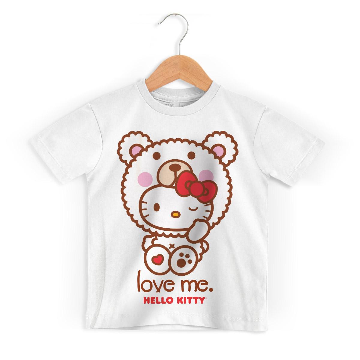 Camiseta Infantil Hello Kitty Love Me