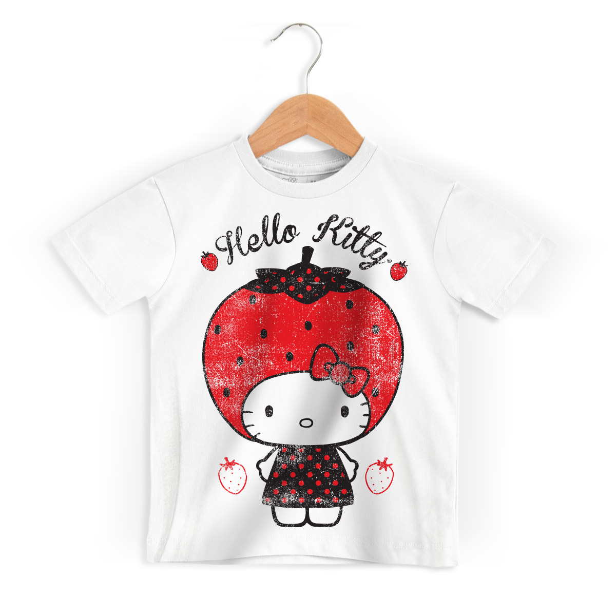 Camiseta Infantil Hello Kitty Strawberry