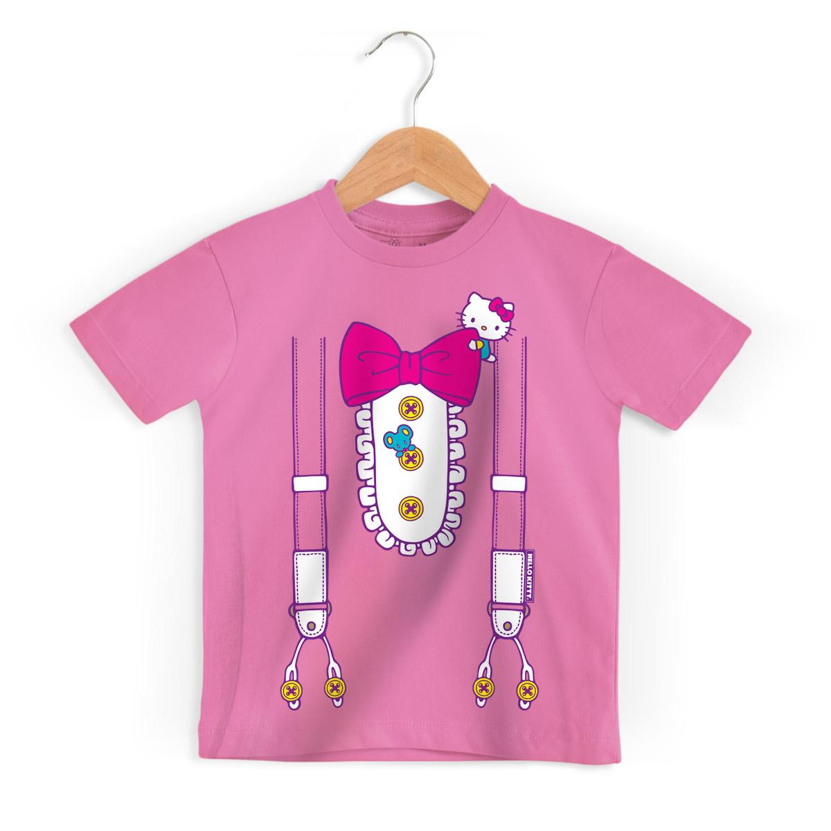 Camiseta Infantil Hello Kitty Suspender
