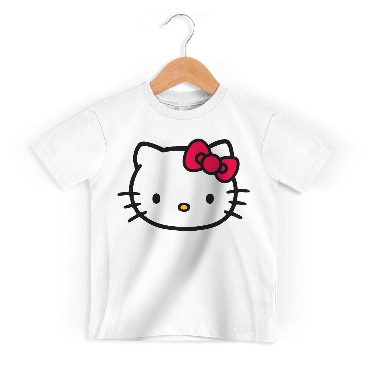 Camiseta Infantil Hello Kitty Tradicional