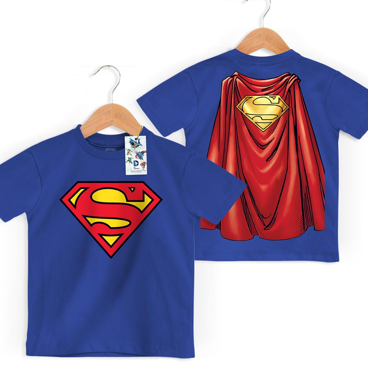 Camiseta Infantil Superman Logo Capa