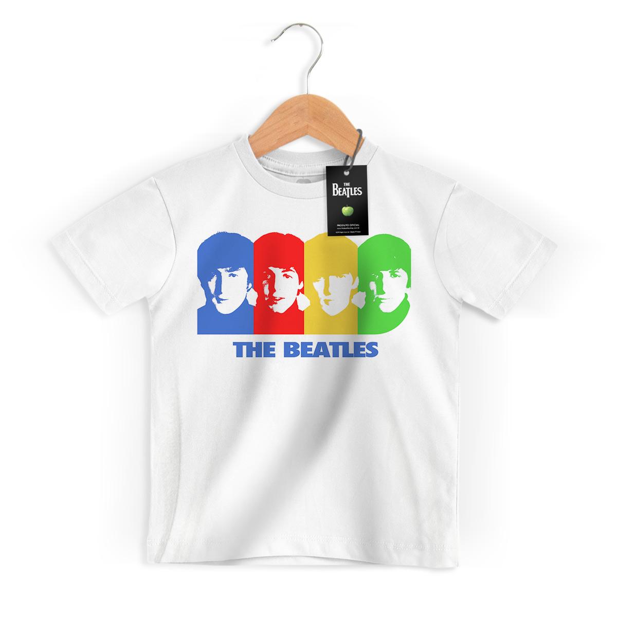 Camiseta Infantil The Beatles Four Colour Picture