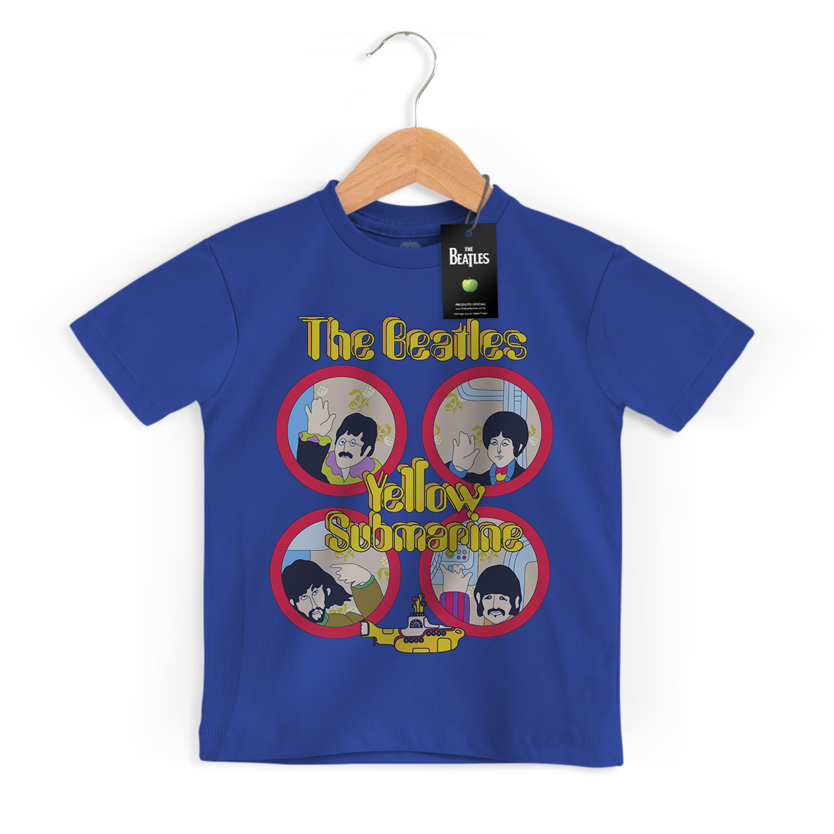 Camiseta Infantil The Beatles Yellow Submarine Original