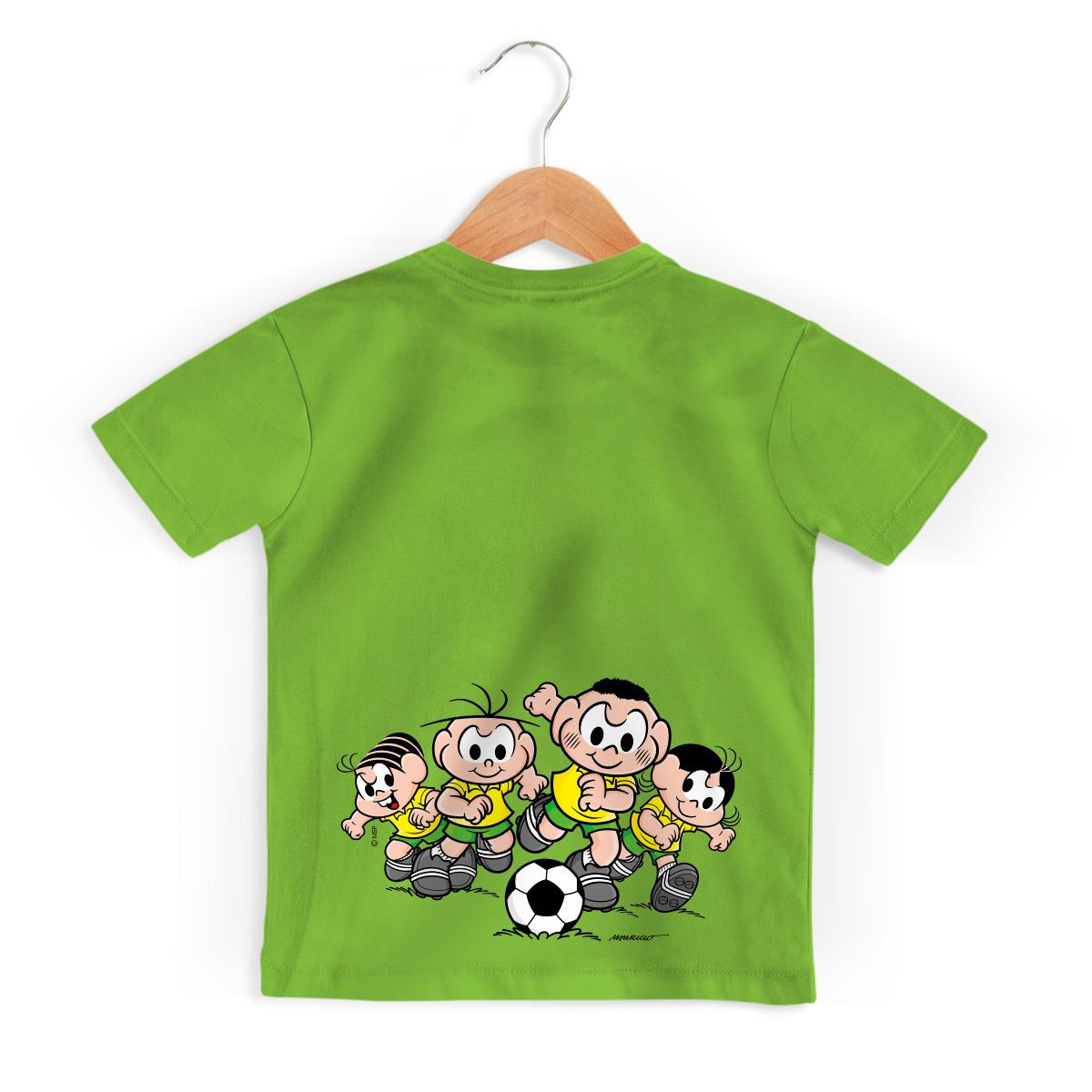 Camiseta Infantil Turma da M�nica Bras�o M�nica e Cebolinha