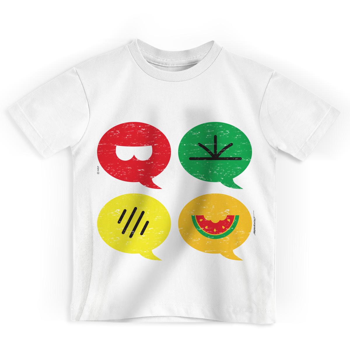 Camiseta Infantil Turma da M�nica Cool �cones
