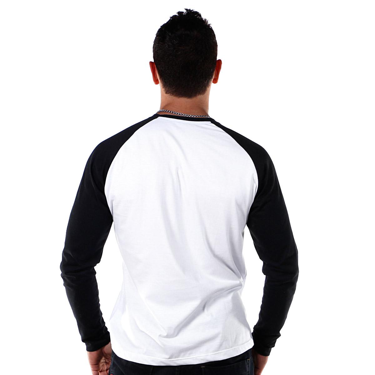 Camiseta Manga Longa Raglan Masculina Fresno Olho