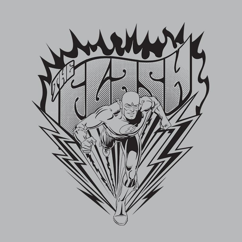 Camiseta Manga Longa Raglan Masculina The Flash P&B