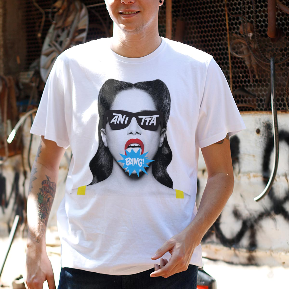 Camiseta Masculina Anitta Bang!