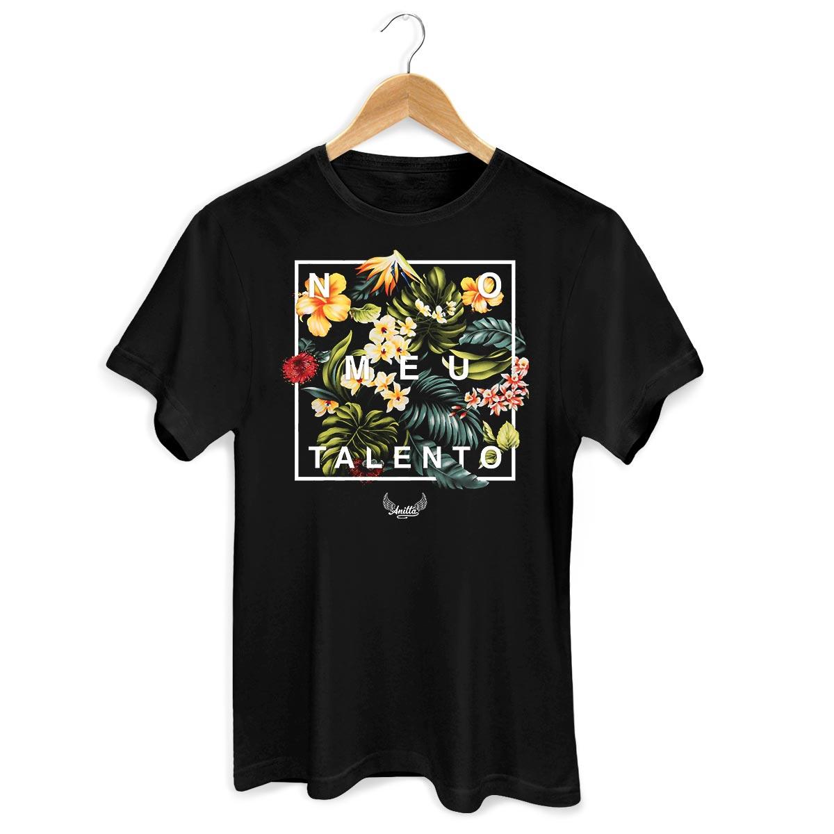 Camiseta Masculina Anitta Meu Talento Flowers