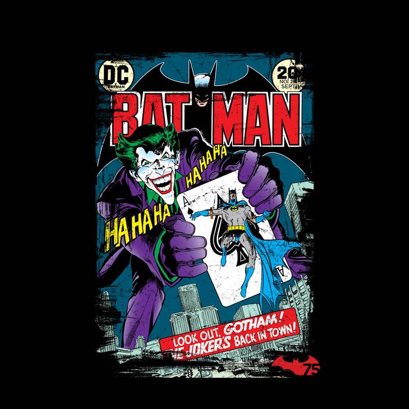 Camiseta Masculina Batman 75 Anos HQ Nº 251