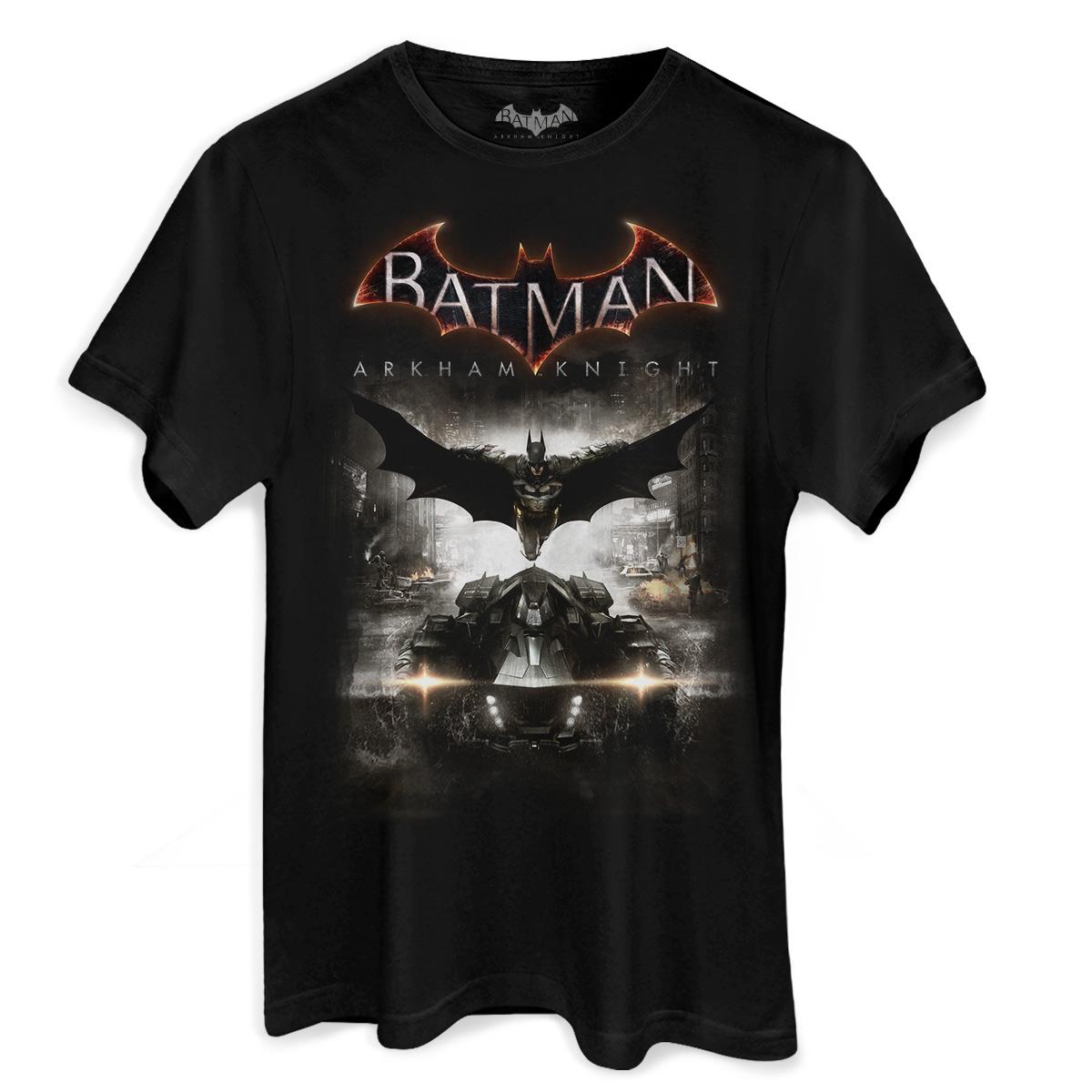 Camiseta Masculina Batman Arkham Knight Action