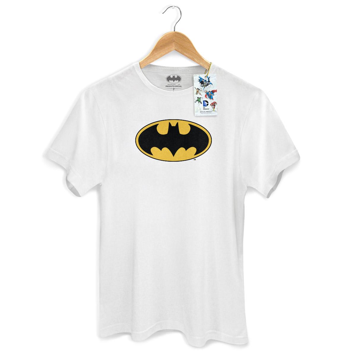 Camiseta Masculina Batman Logo Cl�ssico