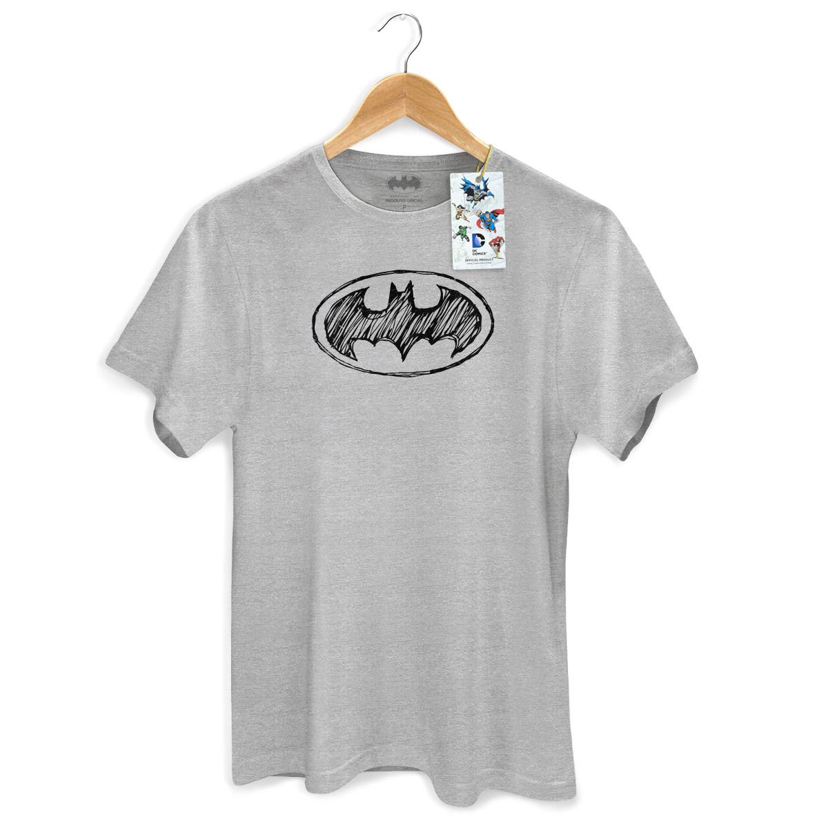 Camiseta Masculina Batman Tracing Logo