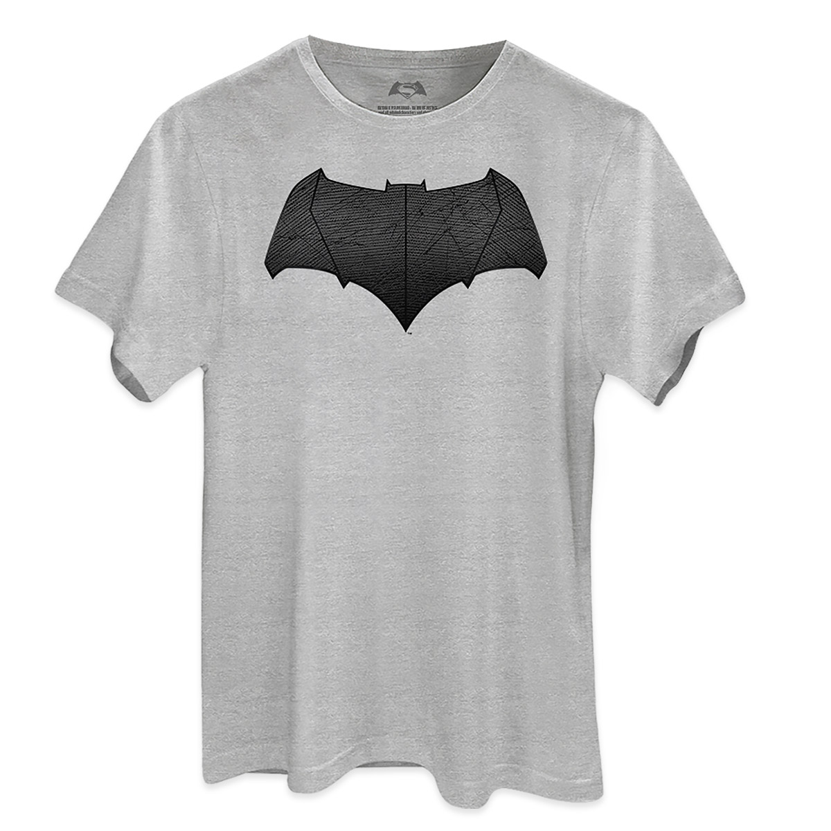 Camiseta Masculina Batman Vs Superman Logo Batman