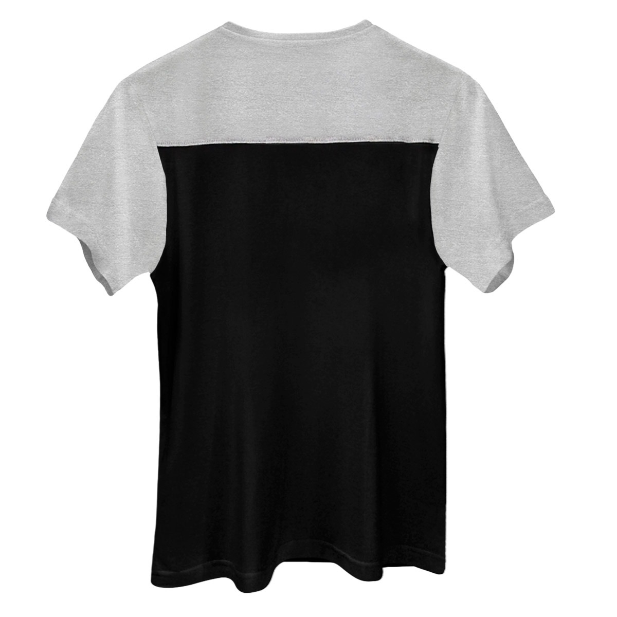 Camiseta Masculina Bicolor Mescla e Preto