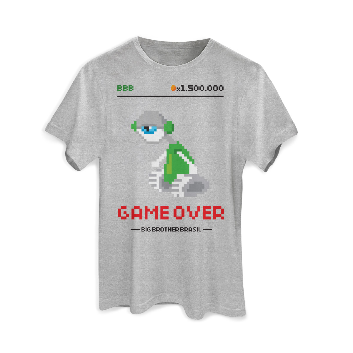 Camiseta Masculina Big Brother Brasil Game Over Modelo 2