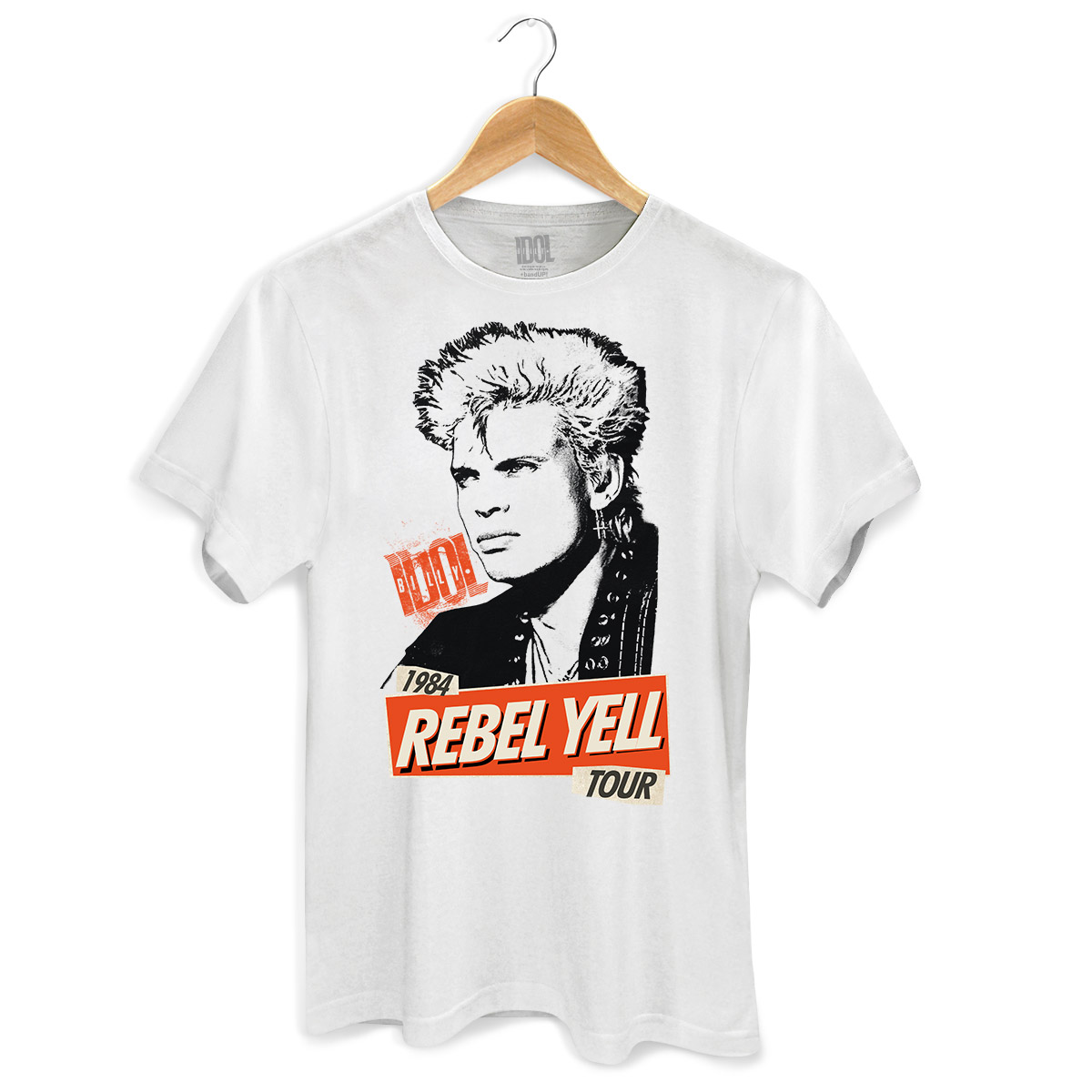 Camiseta Masculina Billy Idol 1984 Rebel Yell Tour