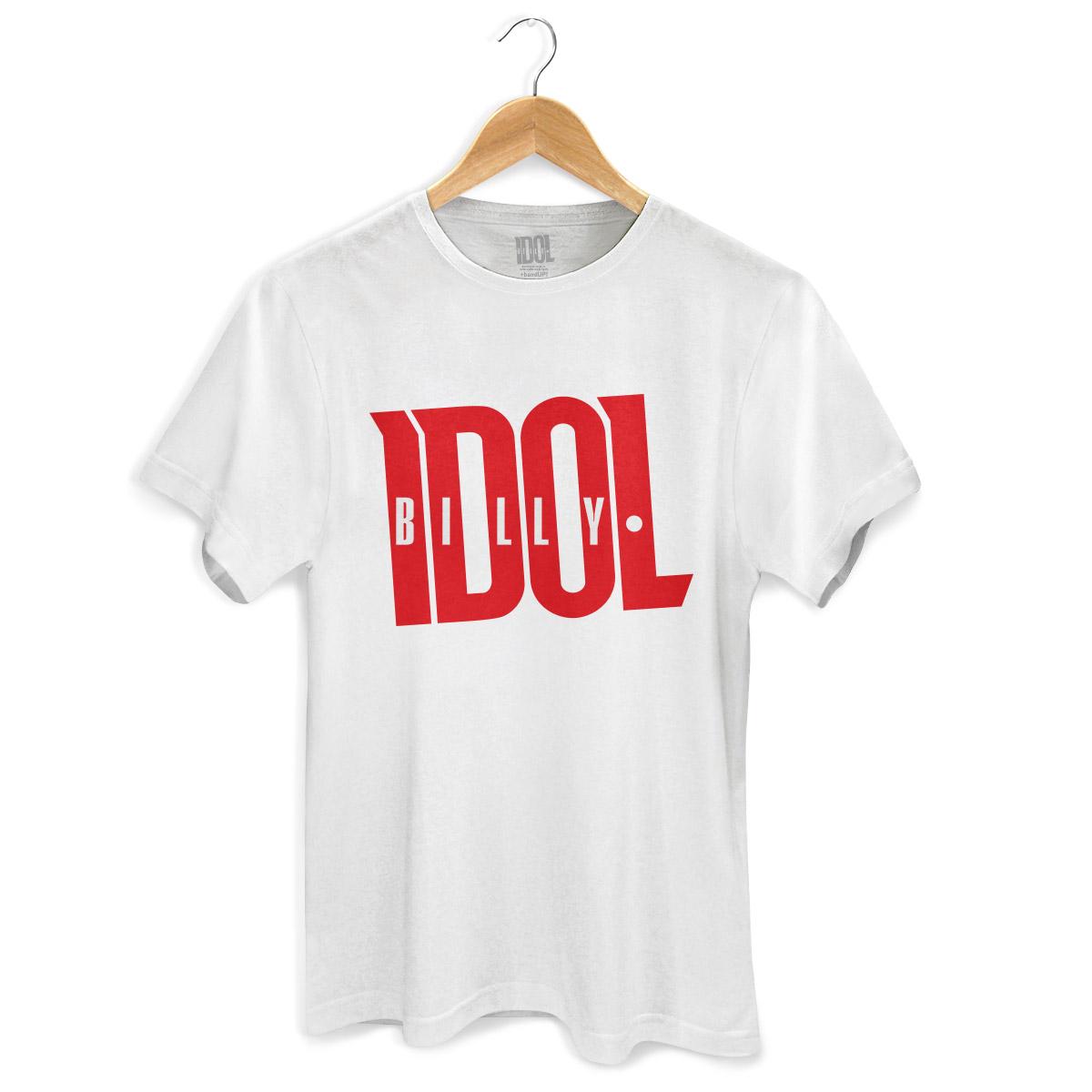 Camiseta Masculina Billy Idol Name White