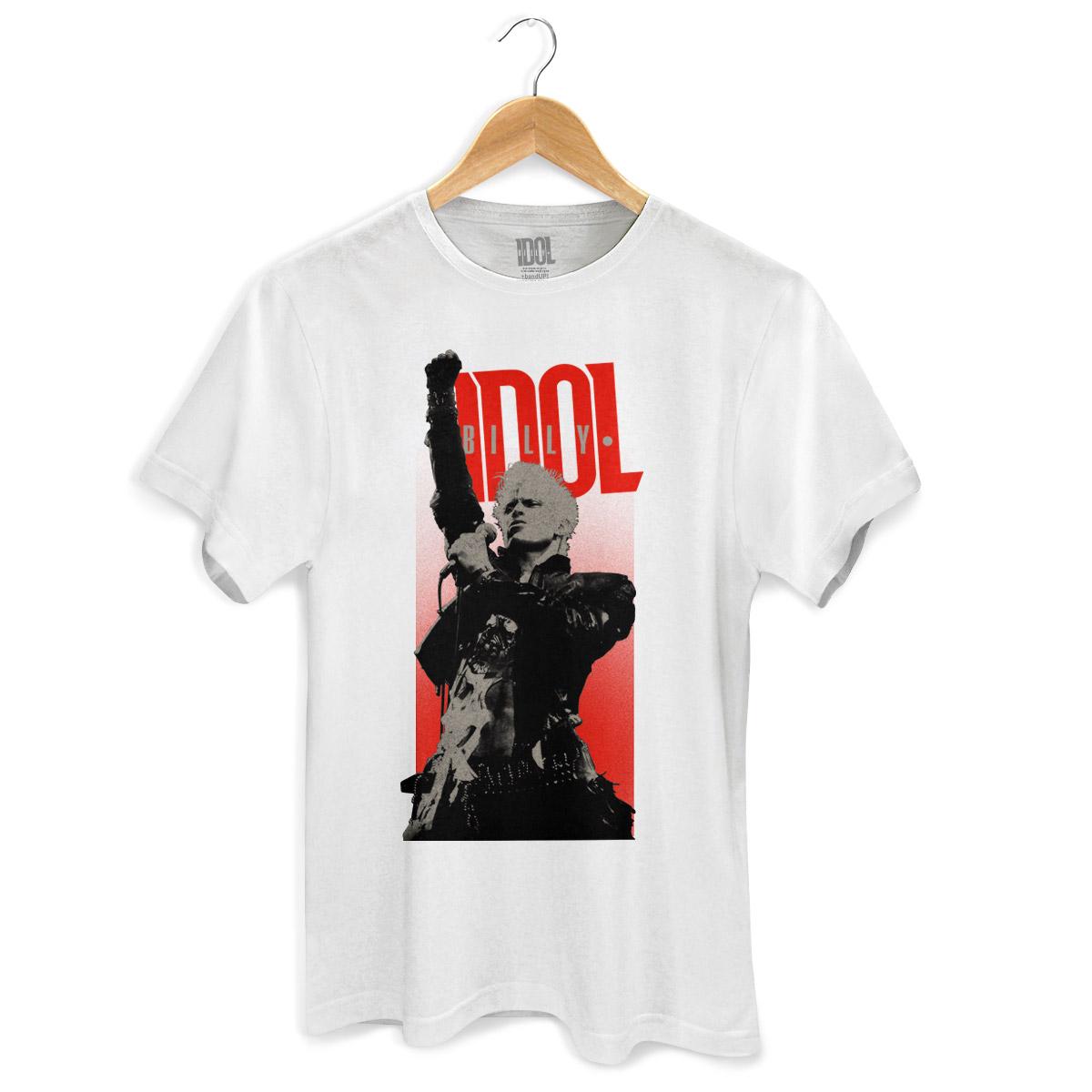 Camiseta Masculina Billy Idol Sing White