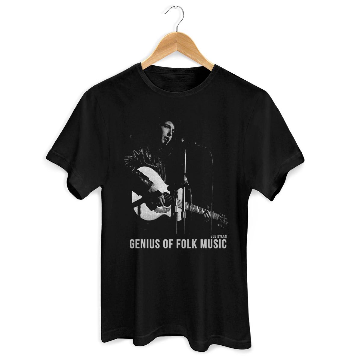 Camiseta Masculina Bob Dylan Genius Of Folk Music