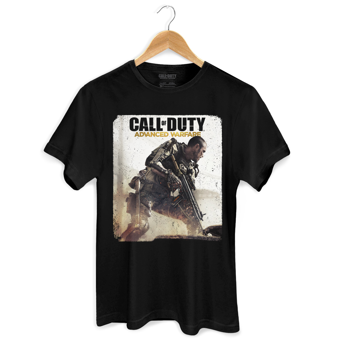 Camiseta Masculina Call of Duty Soldier Black