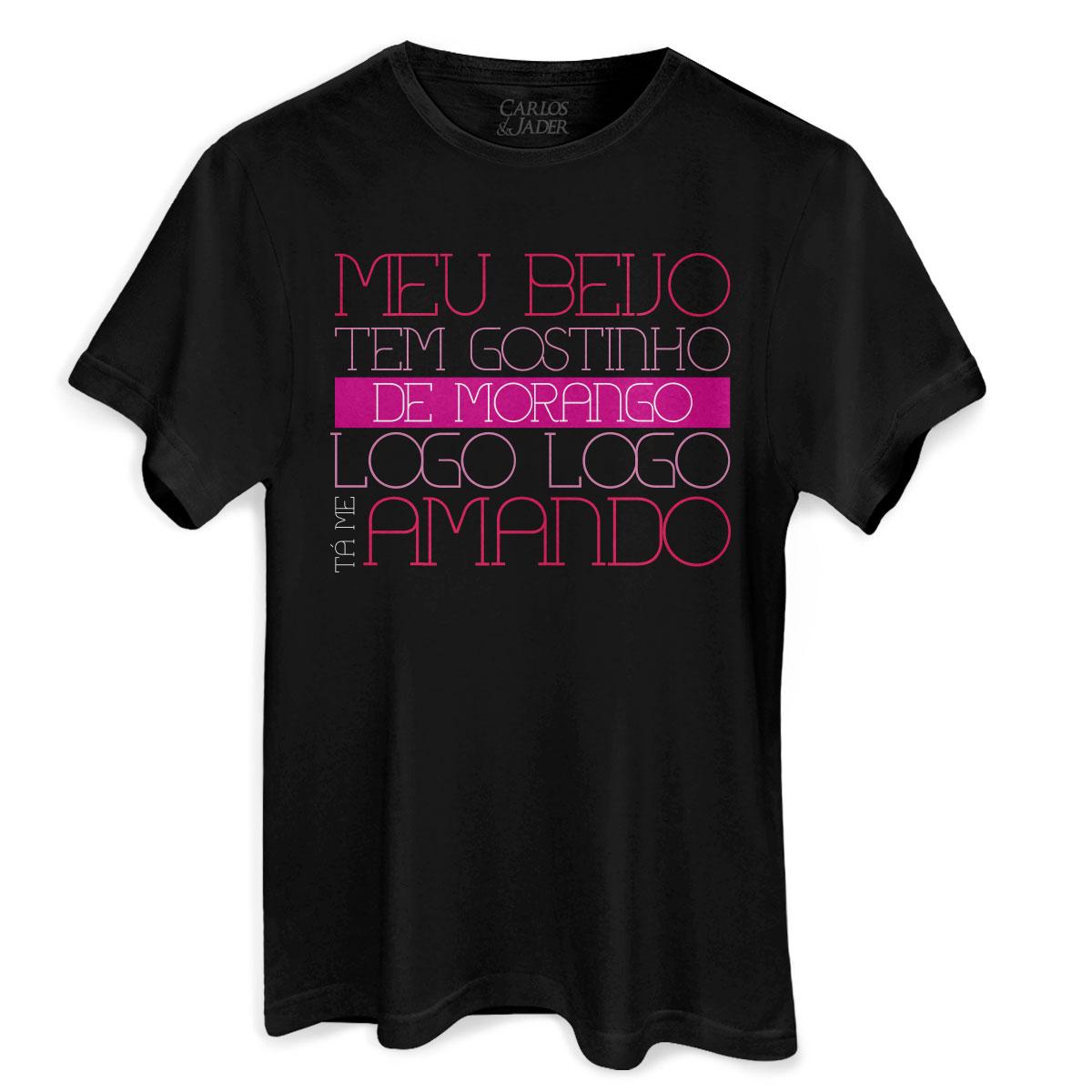 Camiseta Masculina Carlos & Jader Puxo Pela M�o e Beijo