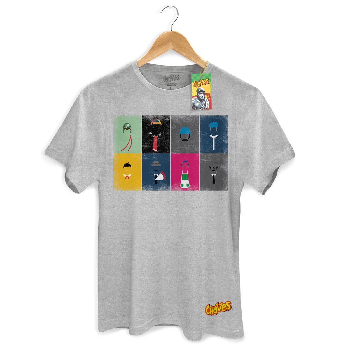 Camiseta Masculina Chaves Ícones Vintage